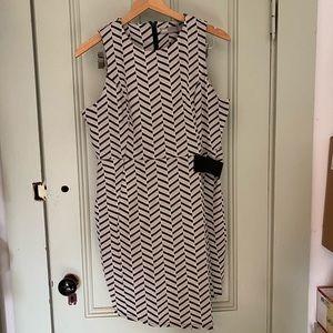 ASOS asymmetric hem jacquard dress, size 12 (NWT)